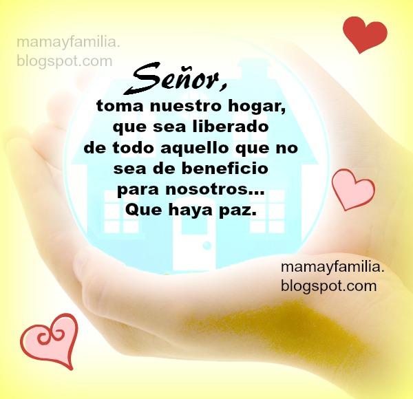 Oración de liberación de mi familia, oraciones, frases con oración corta por mi casa.  Por Mery Bracho. Mamá y familia.