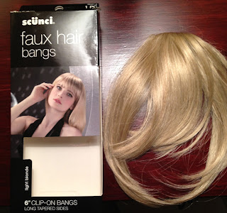 Scunci faux hair bangs, hairpiece, wigs