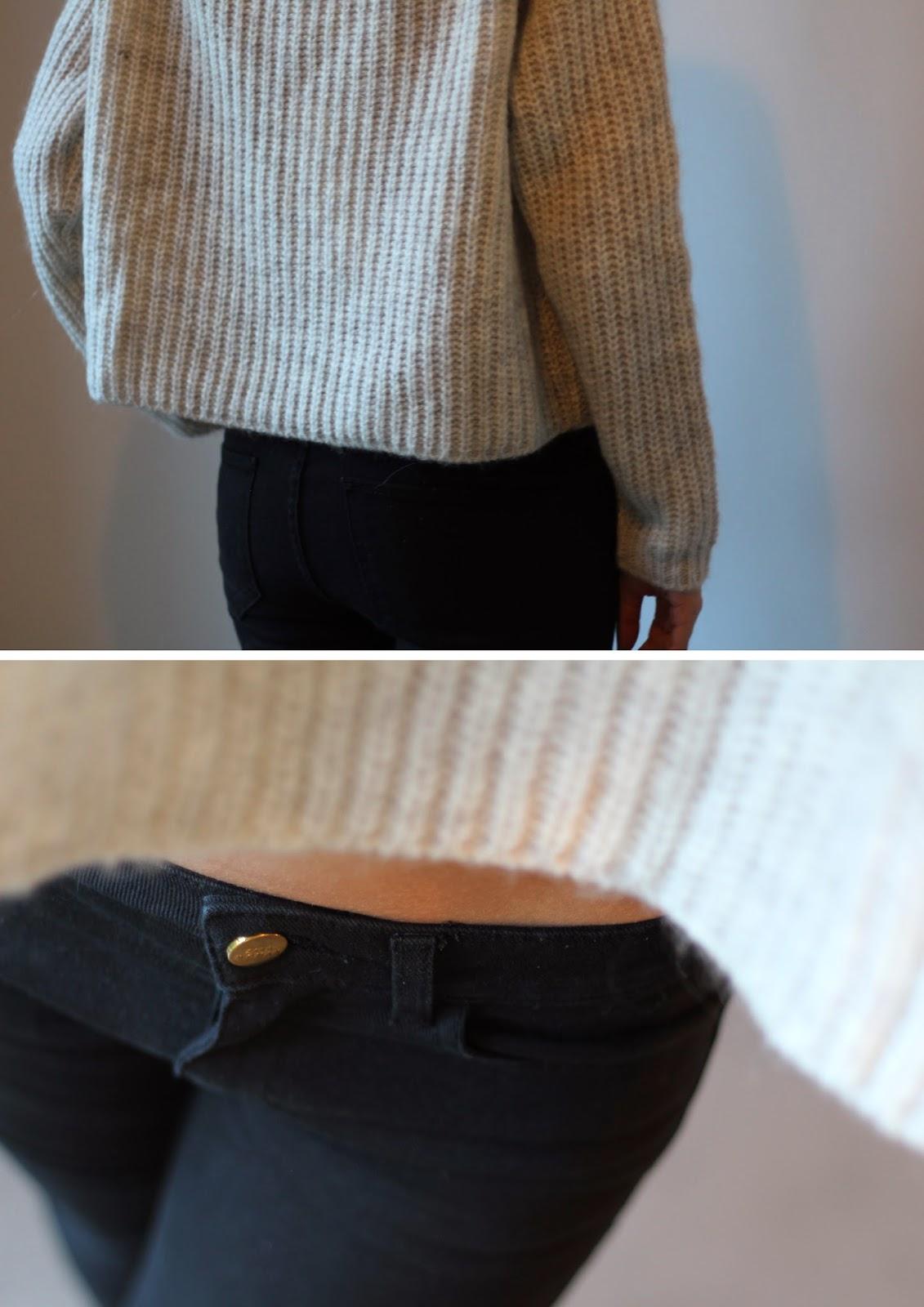 Zara Cowl Neck Rib-Knit Sweater