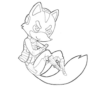 #4 Fox McCloud Coloring Page