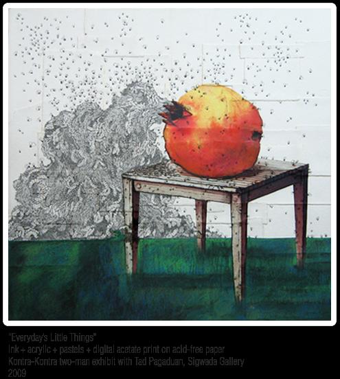 ink acrylic pastels digital print on acid free paper by Ige Trinidad