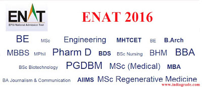 ENAT 2016 Application Form