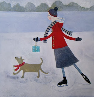 http://folksy.com/items/4683262-Skating-Delight-Fine-Art-Greeting-Card