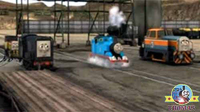 Thomas tank huffed heavily Sodor diesel engines were really sad now He want to make them happy again