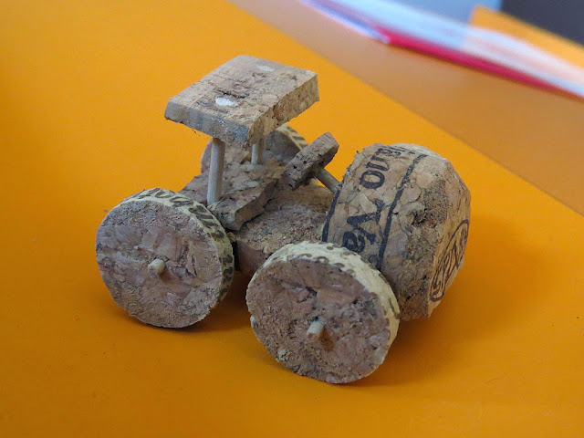 Miniature cork car, Naturalia, Livorno