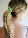 Mint Elastic Hair Bands by Lucky Girl