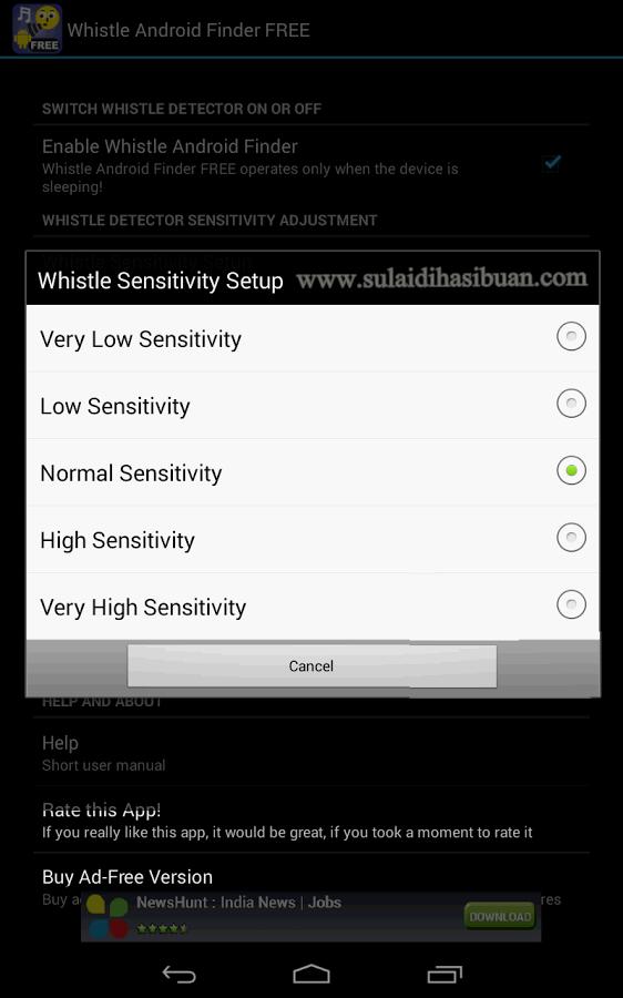 Cara menemukan smartphone android yang hilang dengan siulan