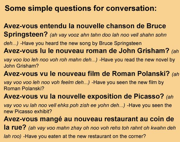 how to start a conversation in french