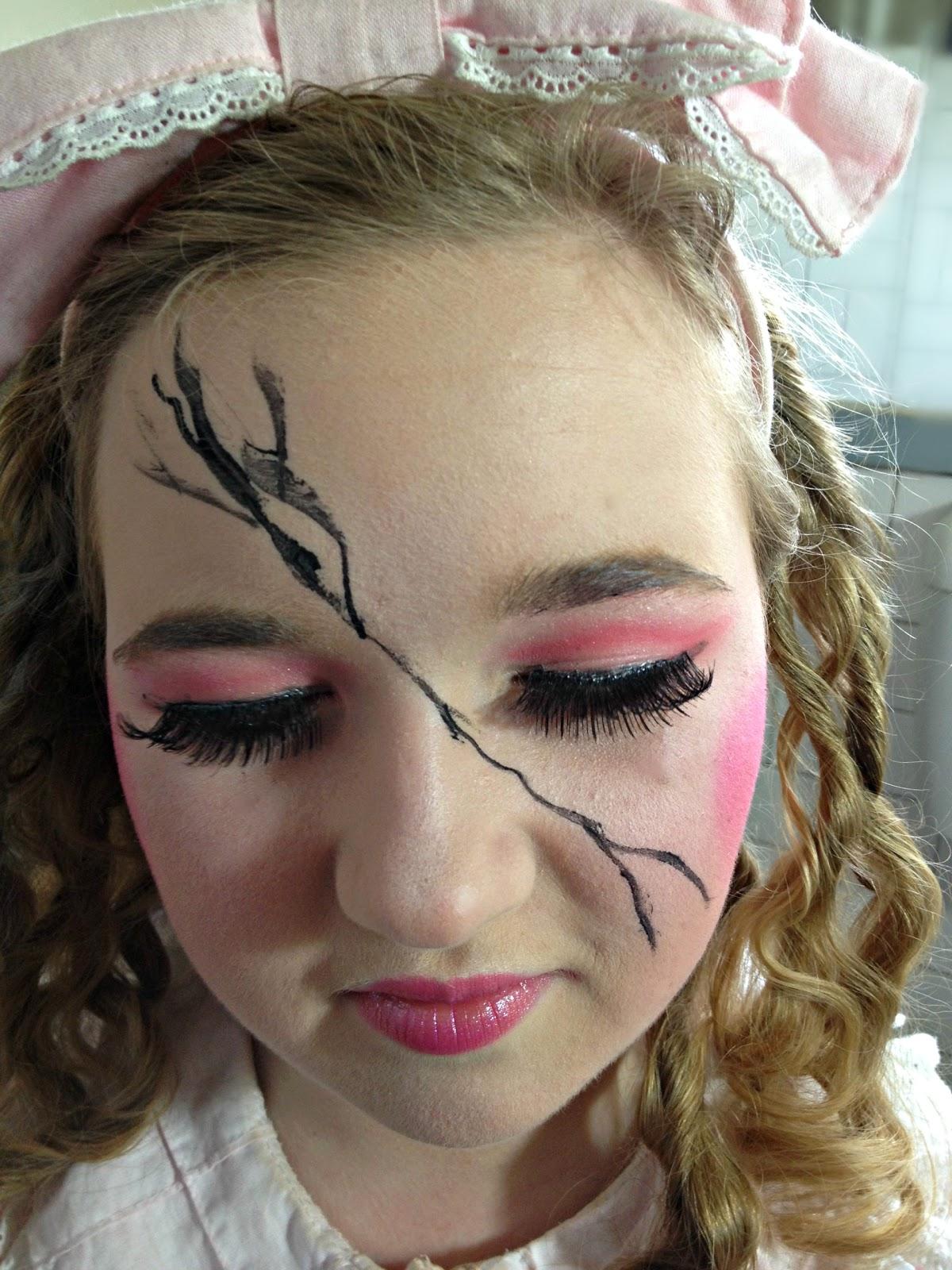 halloween makeup ideas: cracked doll - omega: fashion adjacent