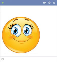Girl Facebook Smiley Face