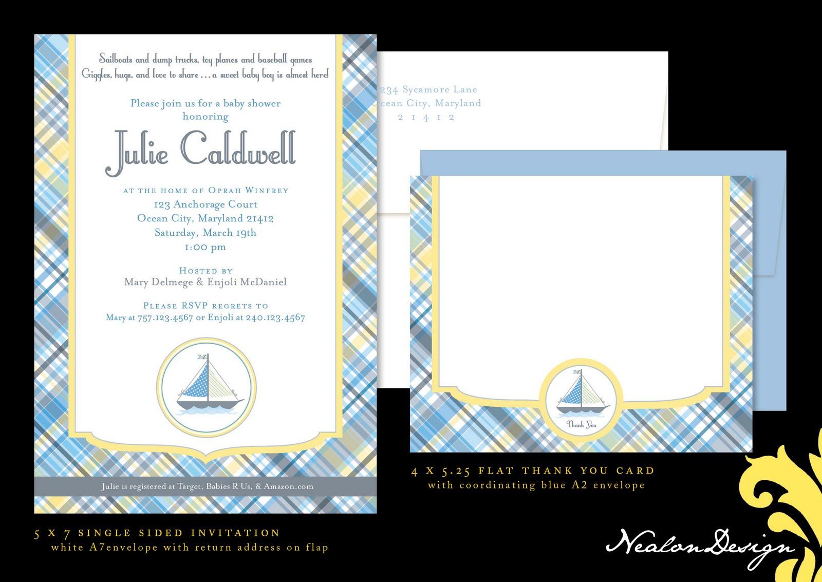 nealon design nautical baby shower invitation