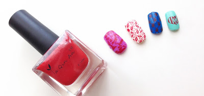 Born Pretty Store Best Stamping Polish Red Ya Qin An nail design plate L016 Add capti