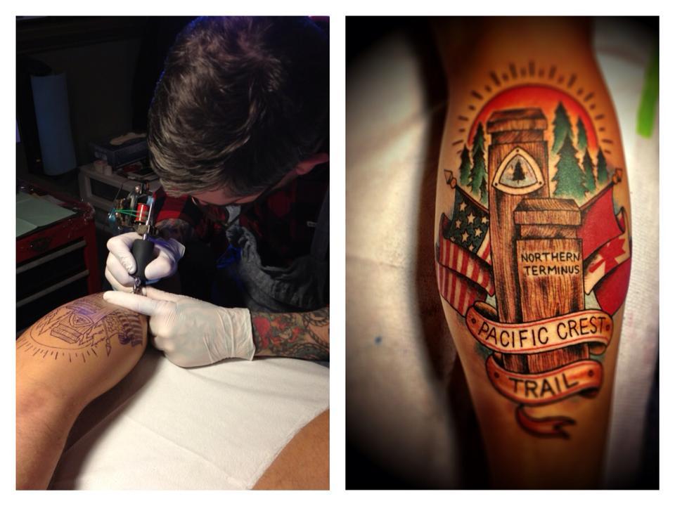 Alfa img - Showing > Hiking Trail Tattoo Designs
