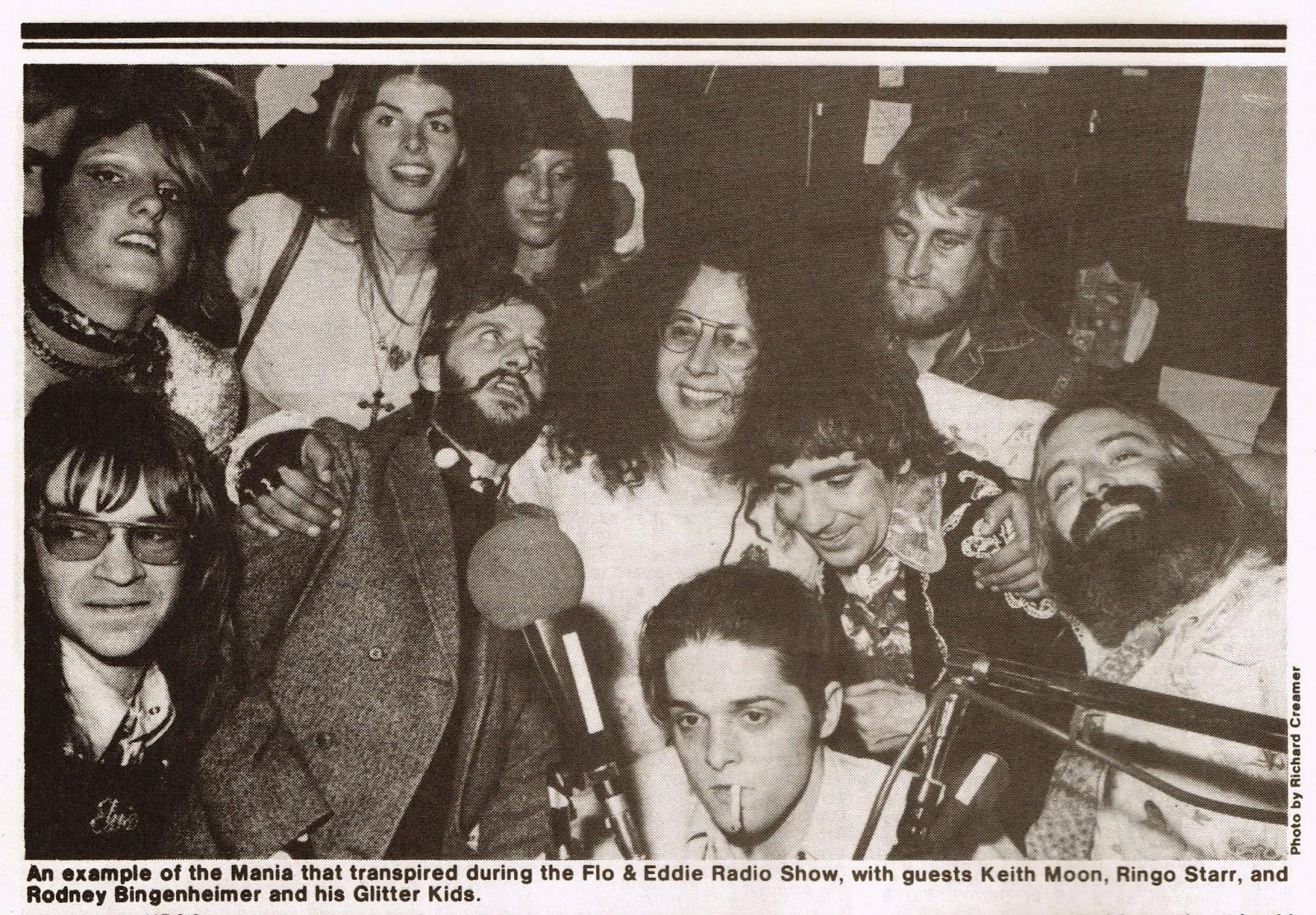Keith Moon, Ringo Starr and Rodney Bingenheimer