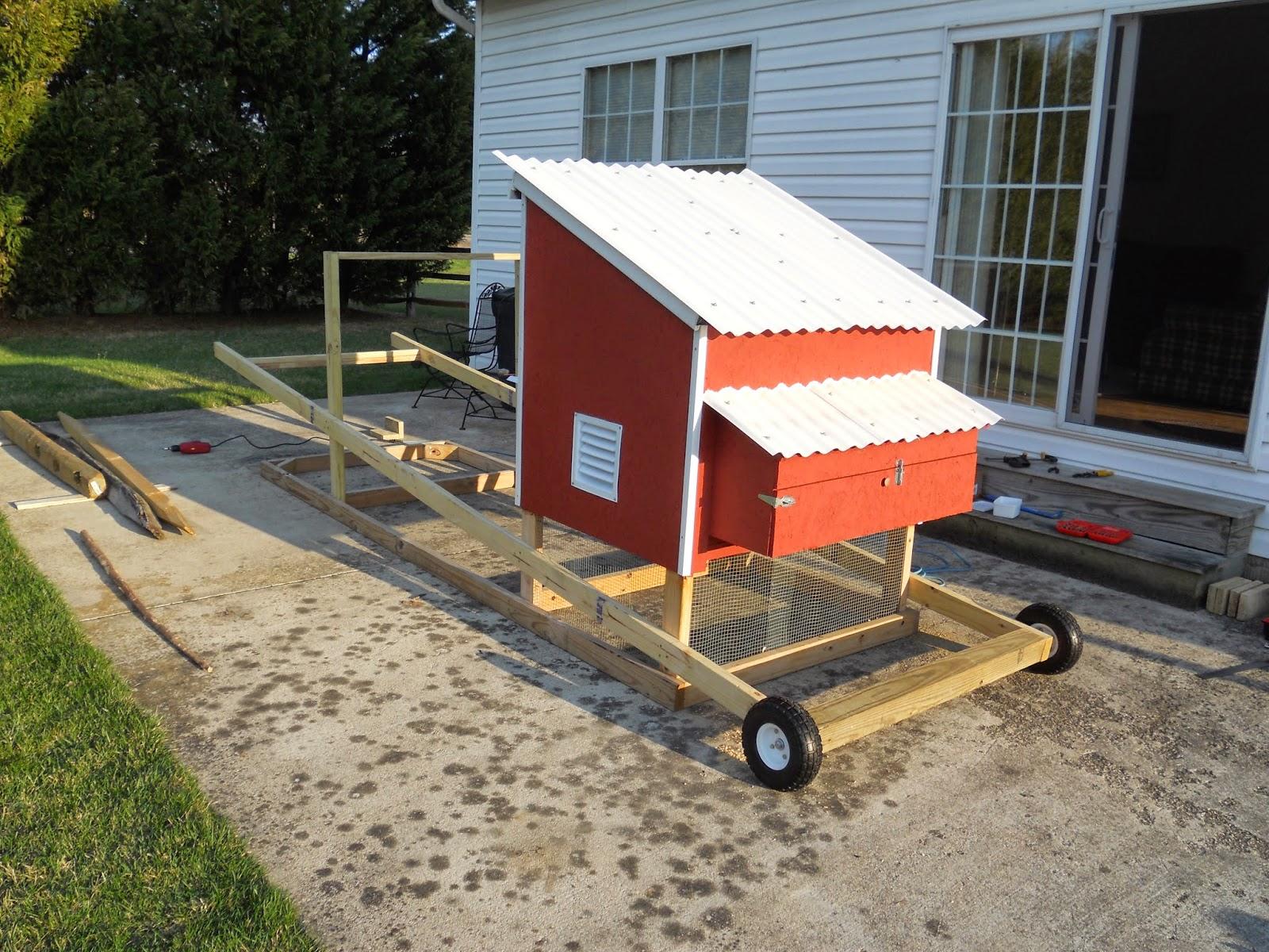 Chicken Tractors On Wheels : The food patch nano farm chicken tractor update wheel