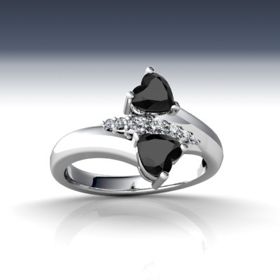 Black Diamond Engagement Rings For Desi Girls