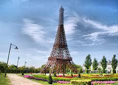 Reproducción de la Torre Eiffel, Parque Europa