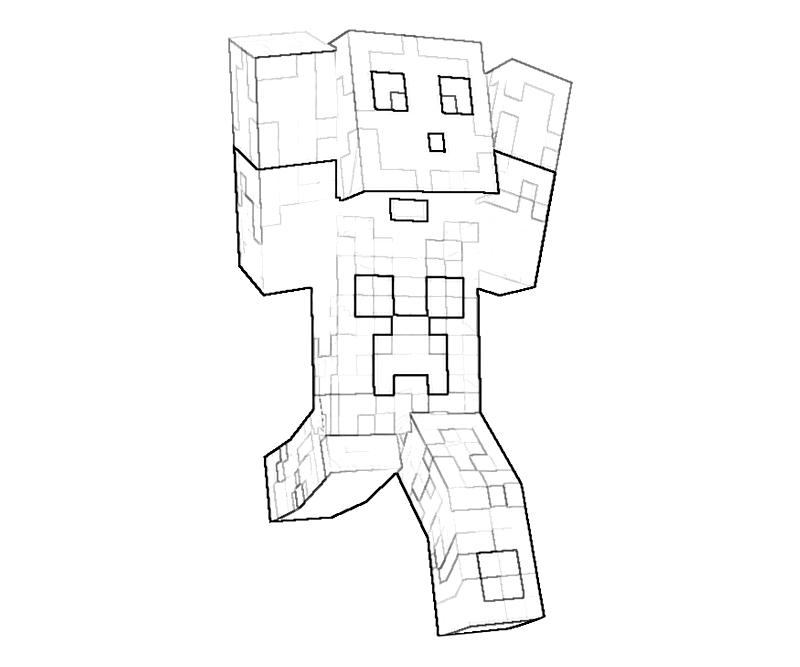 Minecraft Colouring Pages Online : Minecraft character action yumiko fujiwara