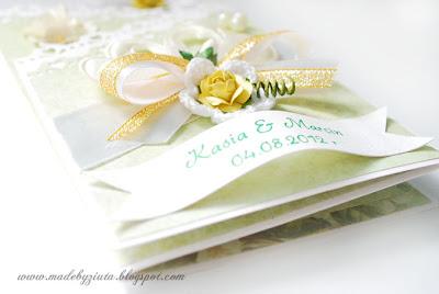 kartki okolicznościowe ręcznie robione kartka ślubna wesele kartka typu składaczek