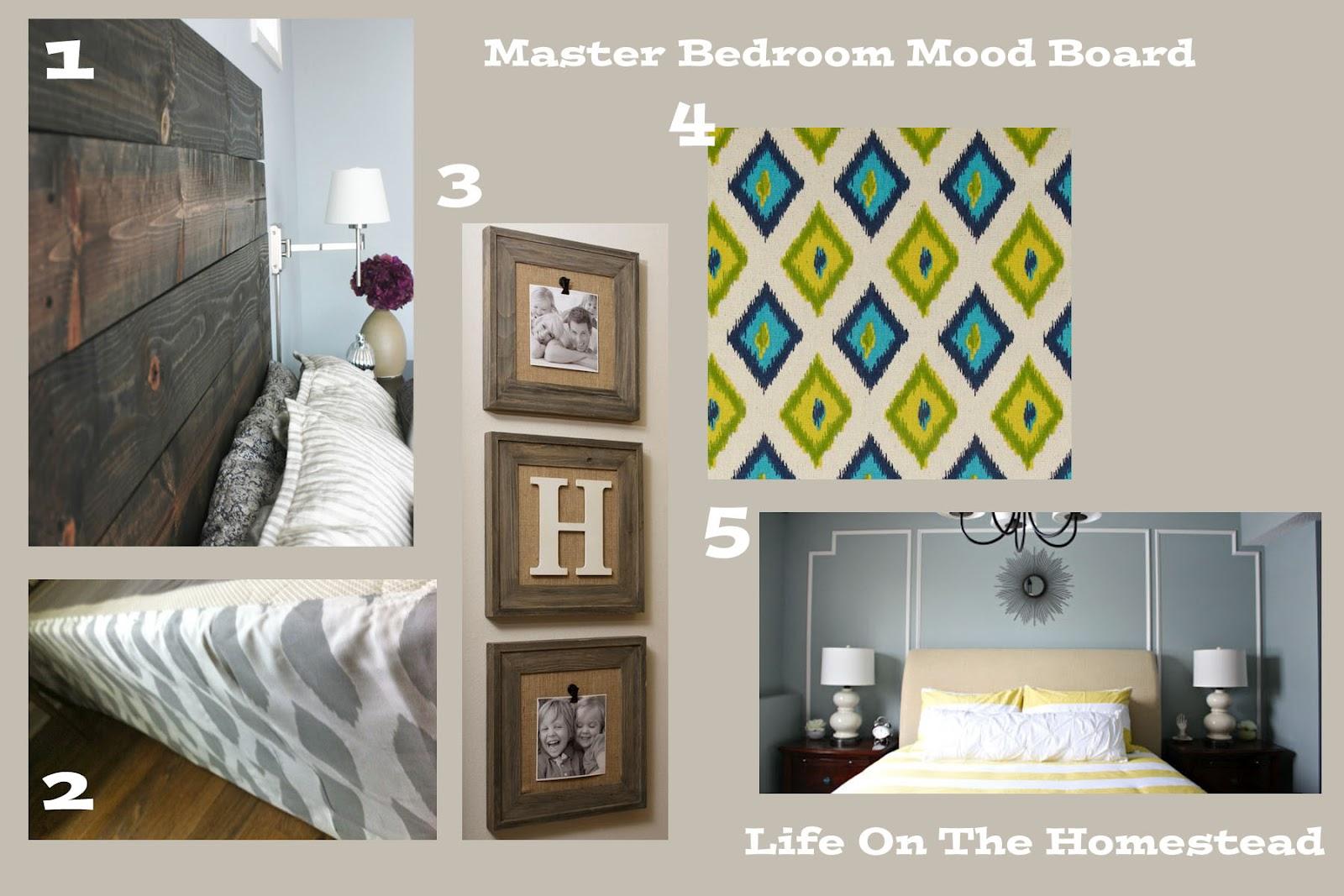 Life On The Homestead A Master Bedroom Mood Board