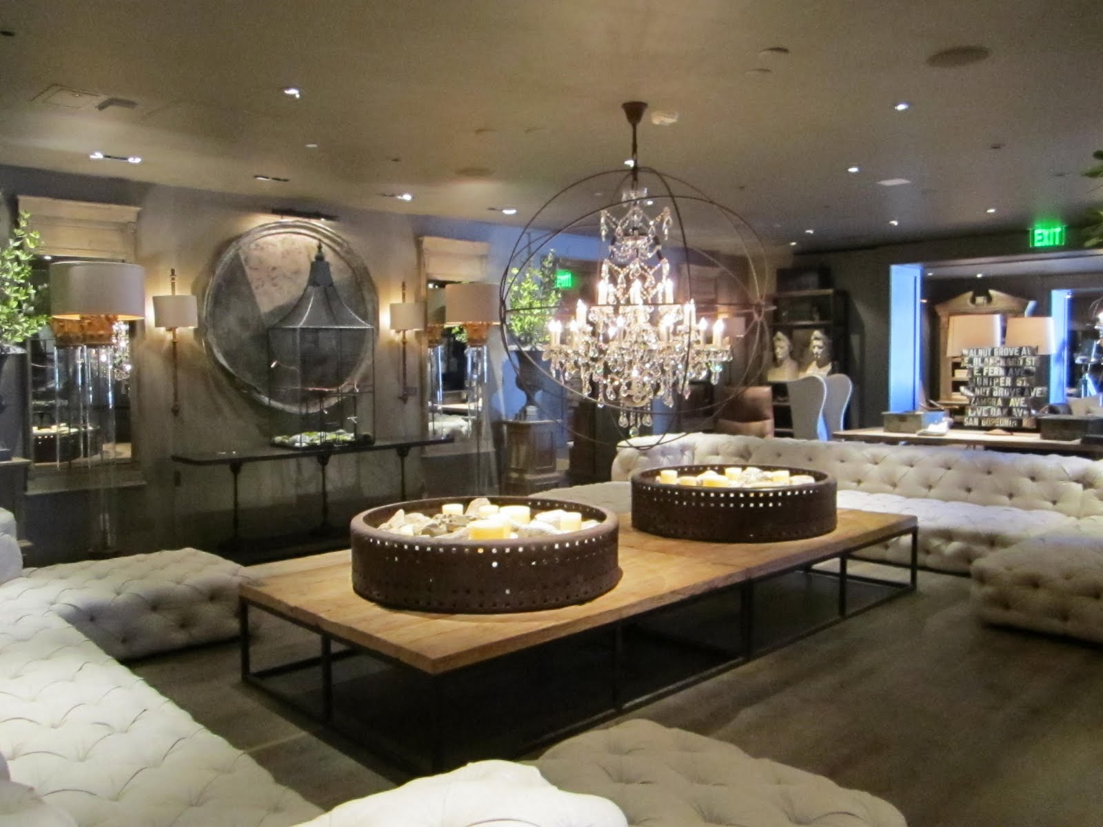 They did a phenomenal job i was blown away to be honest sometimes i get over the all neutral look of restoration hardware but this showroom was amazing