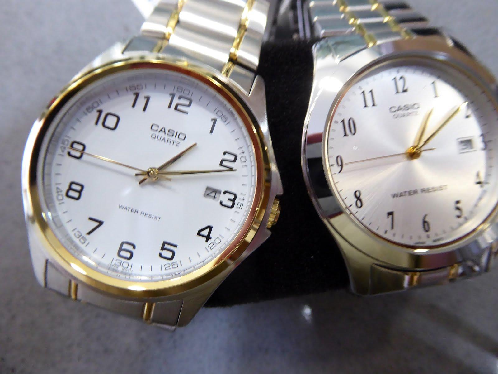 Relojes Casio con army de acero bicolor