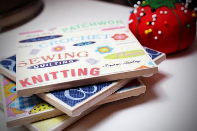 Sewing tile coasters