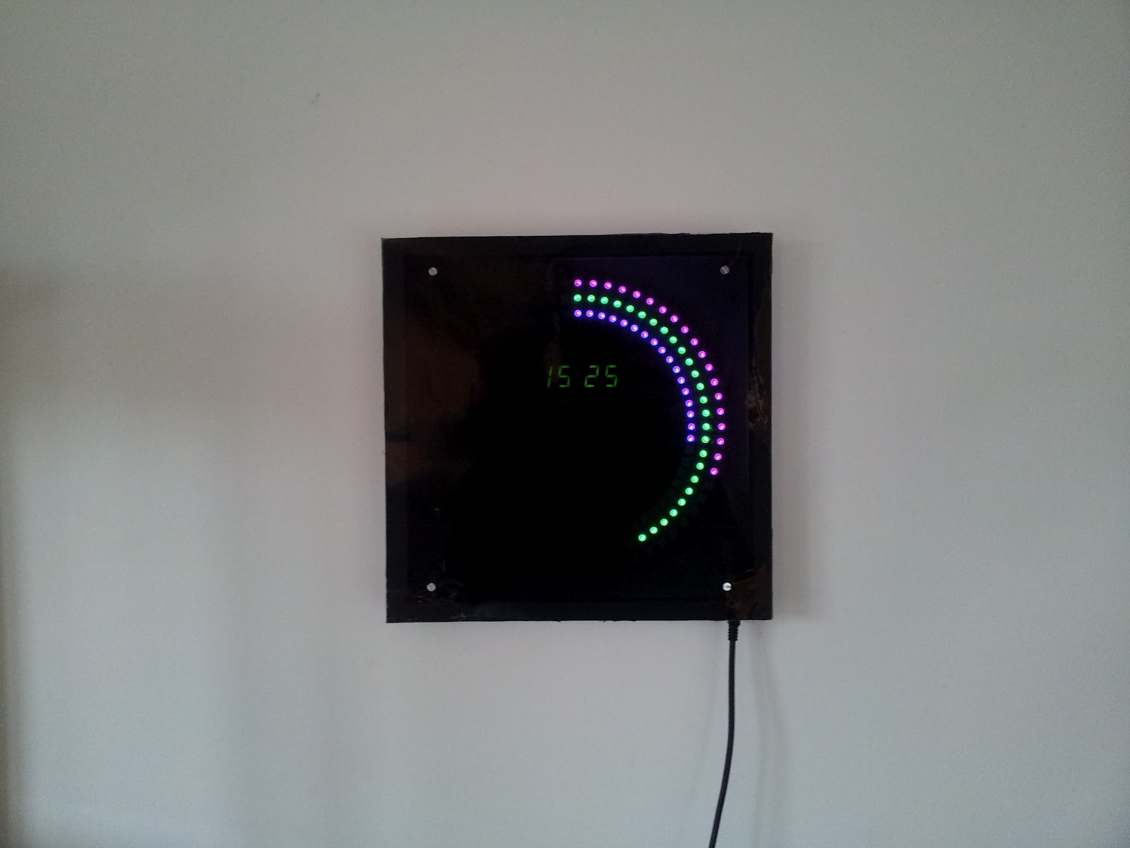 Electronic projects arduino led clock