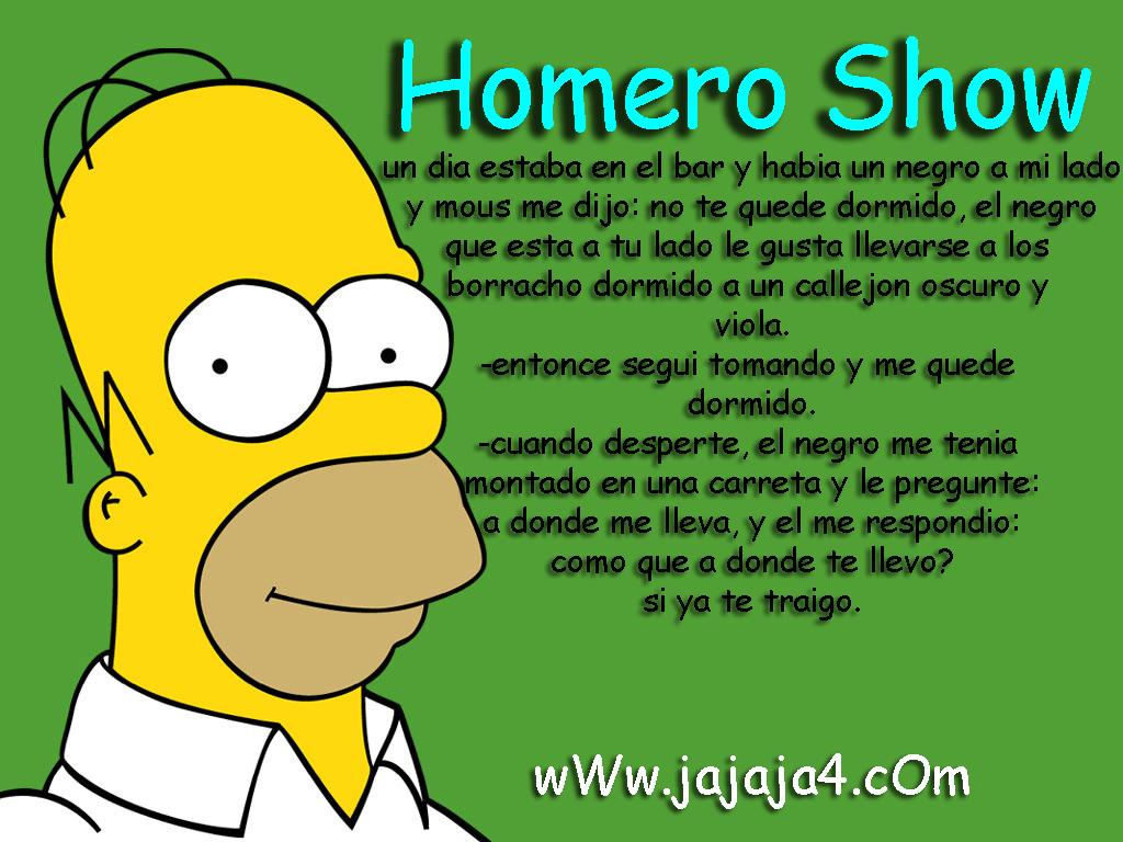 Homero Show: el borracho y el negro