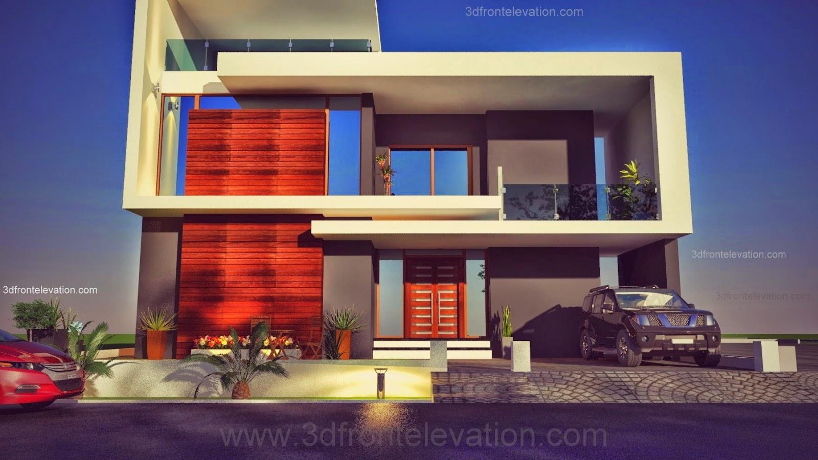 3d front beautiful pakistani 1 kanal modern for Beautiful 3d home design