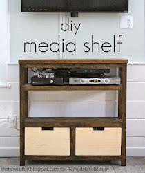 diy open media shelf