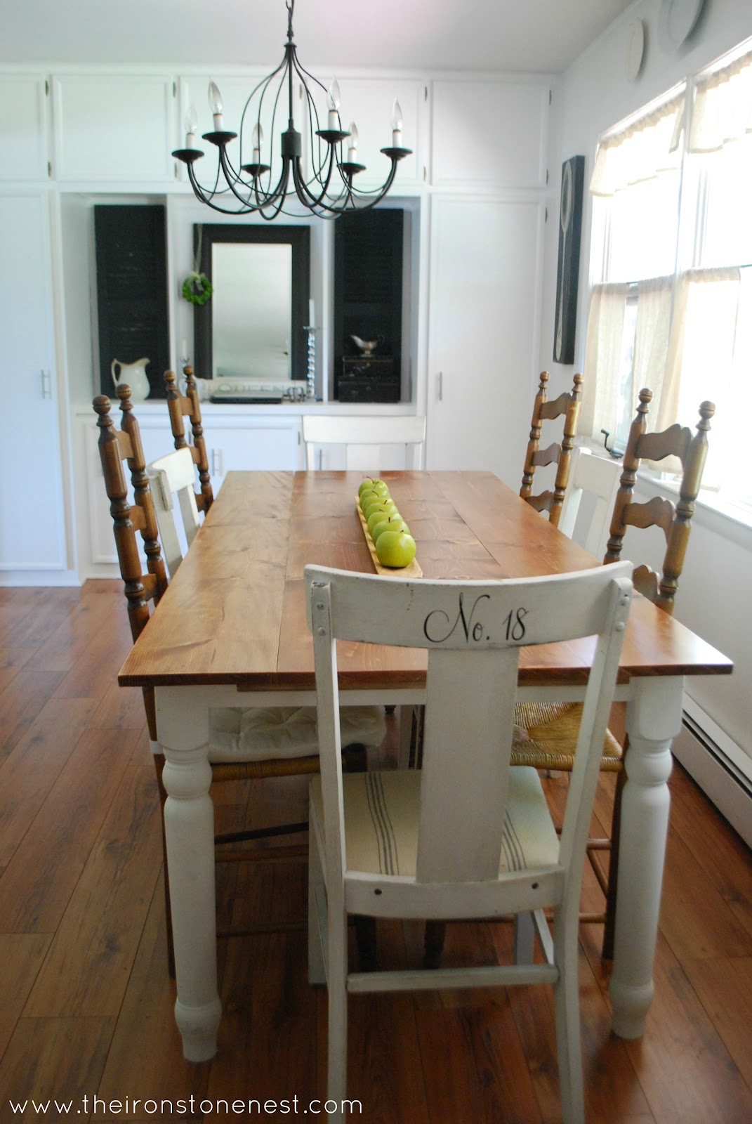 Dining room reveal for Dining room farm table