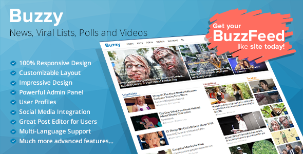 Buzzy v1.1.3 – News, Viral Lists, Polls and Videos