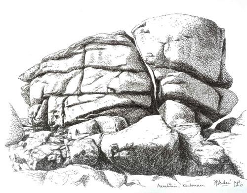 Jean yves andr rocher de meneham kerlouan 29 - Dessin rocher ...