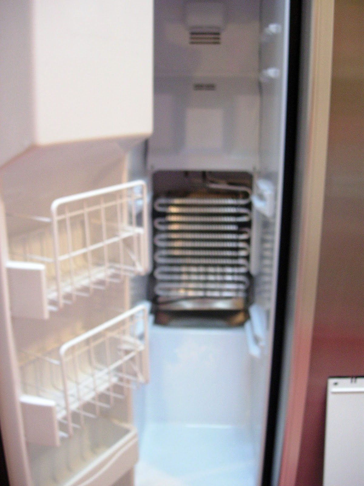 jenn air refrigerator side by side. inside view of jenn-air side by freezer after panel was removed. jenn air refrigerator