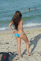 Anais Zanotti hot ass in a blue bikini