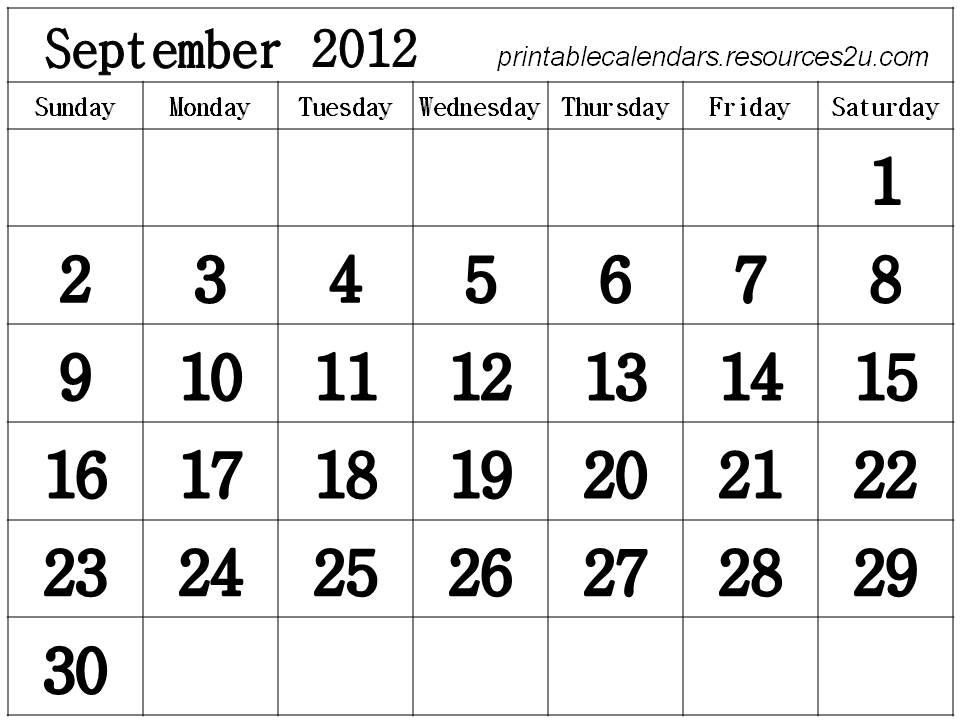 calendar 2012 printable. Free Homemade Calendar 2012