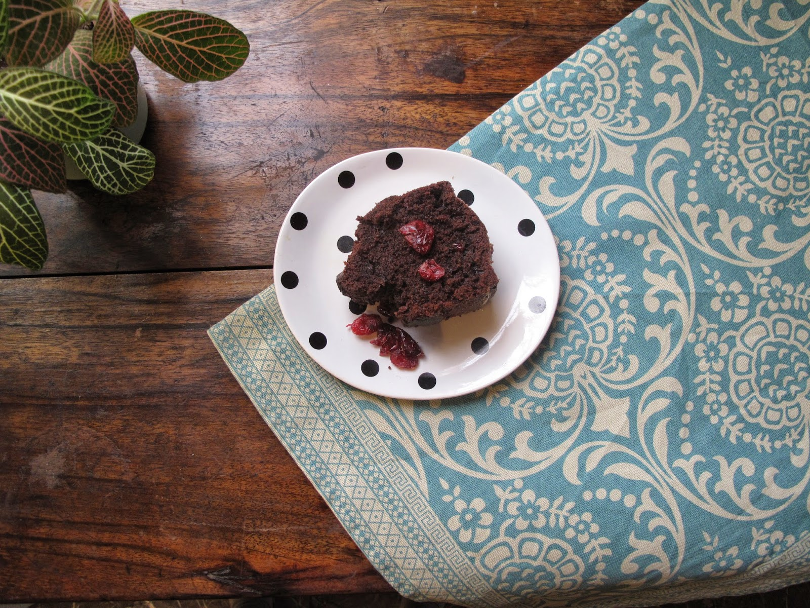 Chocolate beetroot cranberries cake