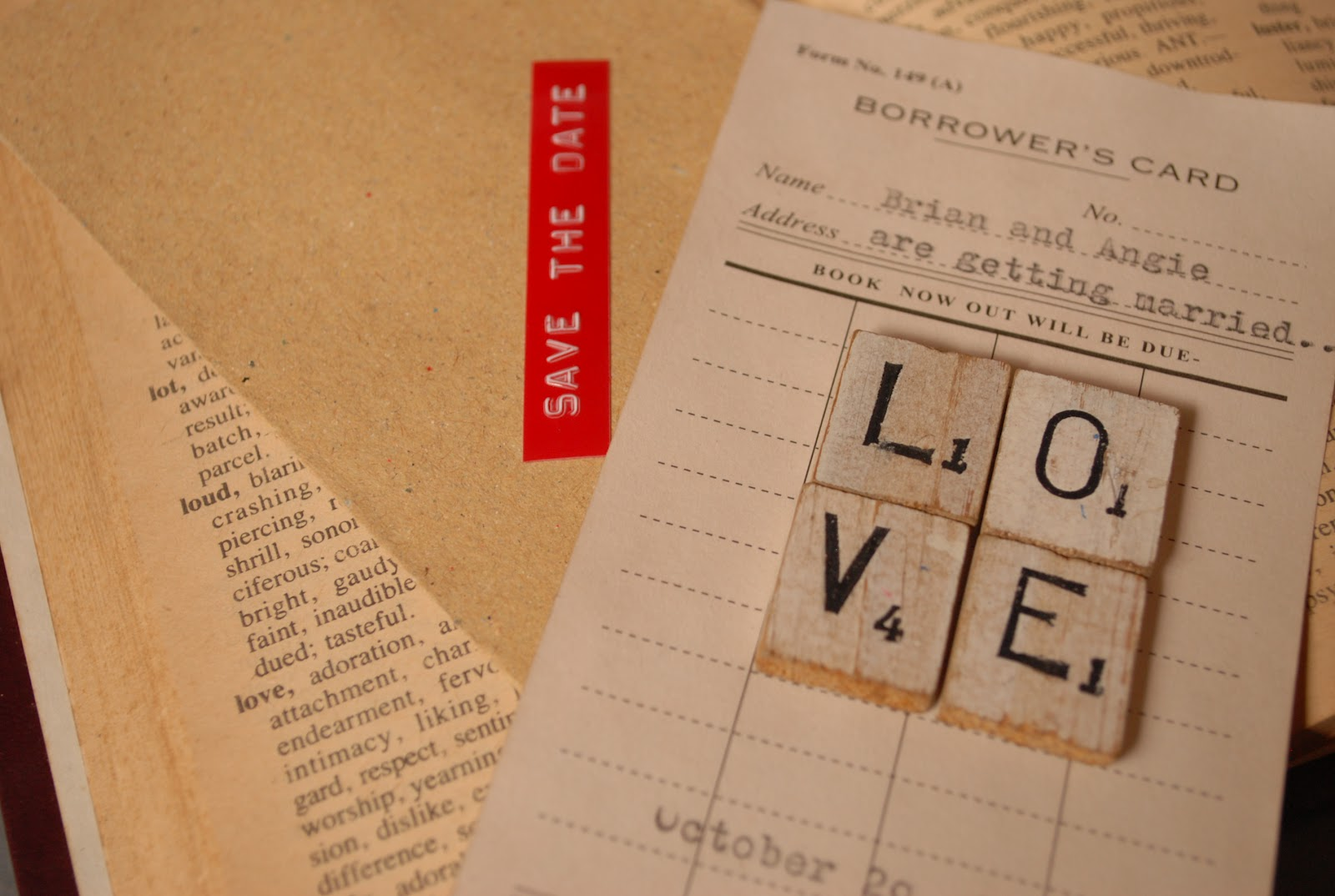 diy love library card save the date