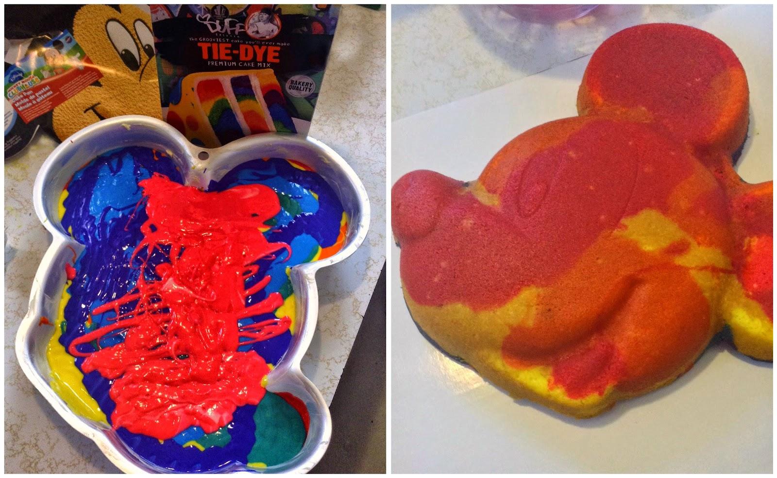 DisneySide tie dye cake