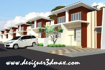 Design Rumah Berderet Type 36 Gabung Atap 2 Lantai