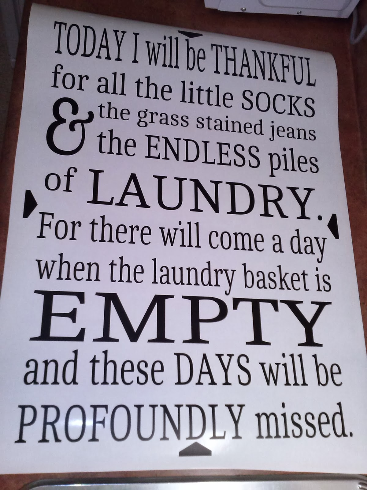 Laundry Vinyl Wall Decal
