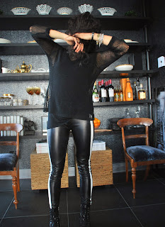 leather lover-sandro paris leather leggings mother's closet zara alexander wang loveyourself ootd aleexander wang3
