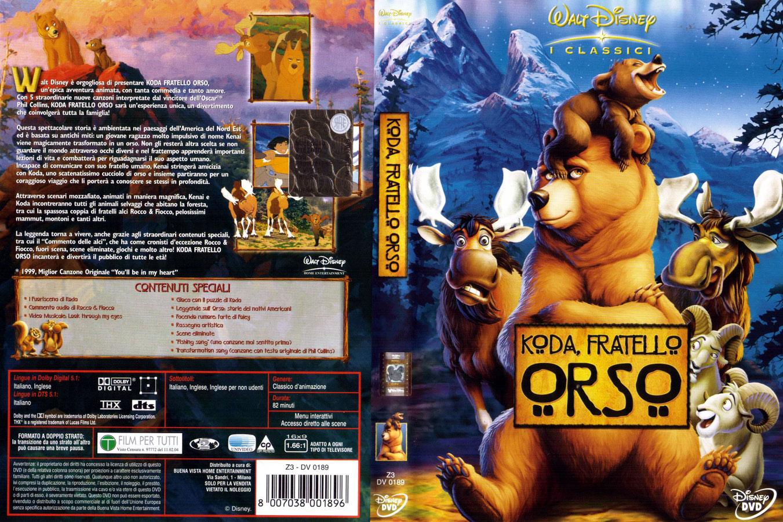 Disney animazione koda fratello orso dvd