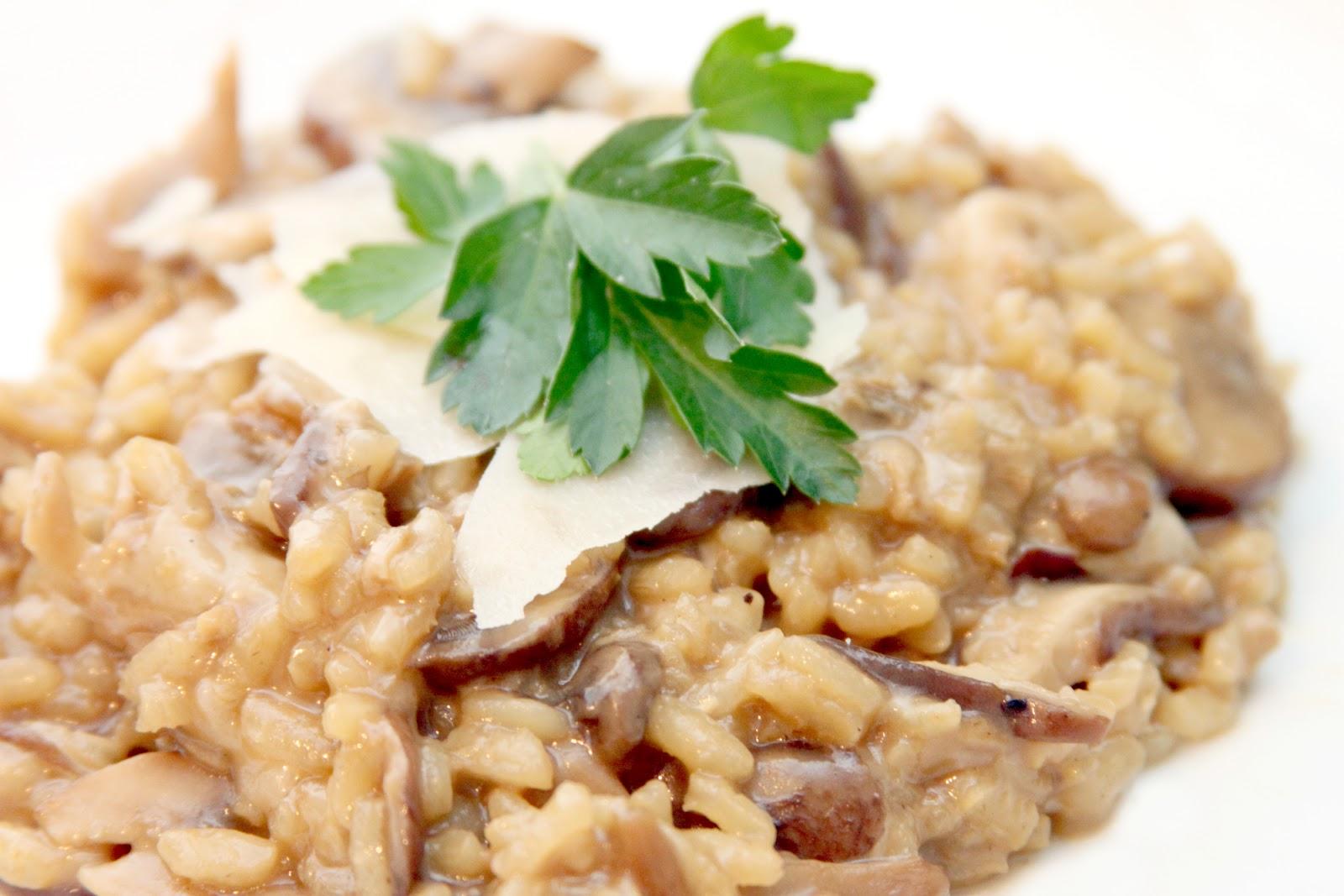 gingersnaps: wild mushroom risotto