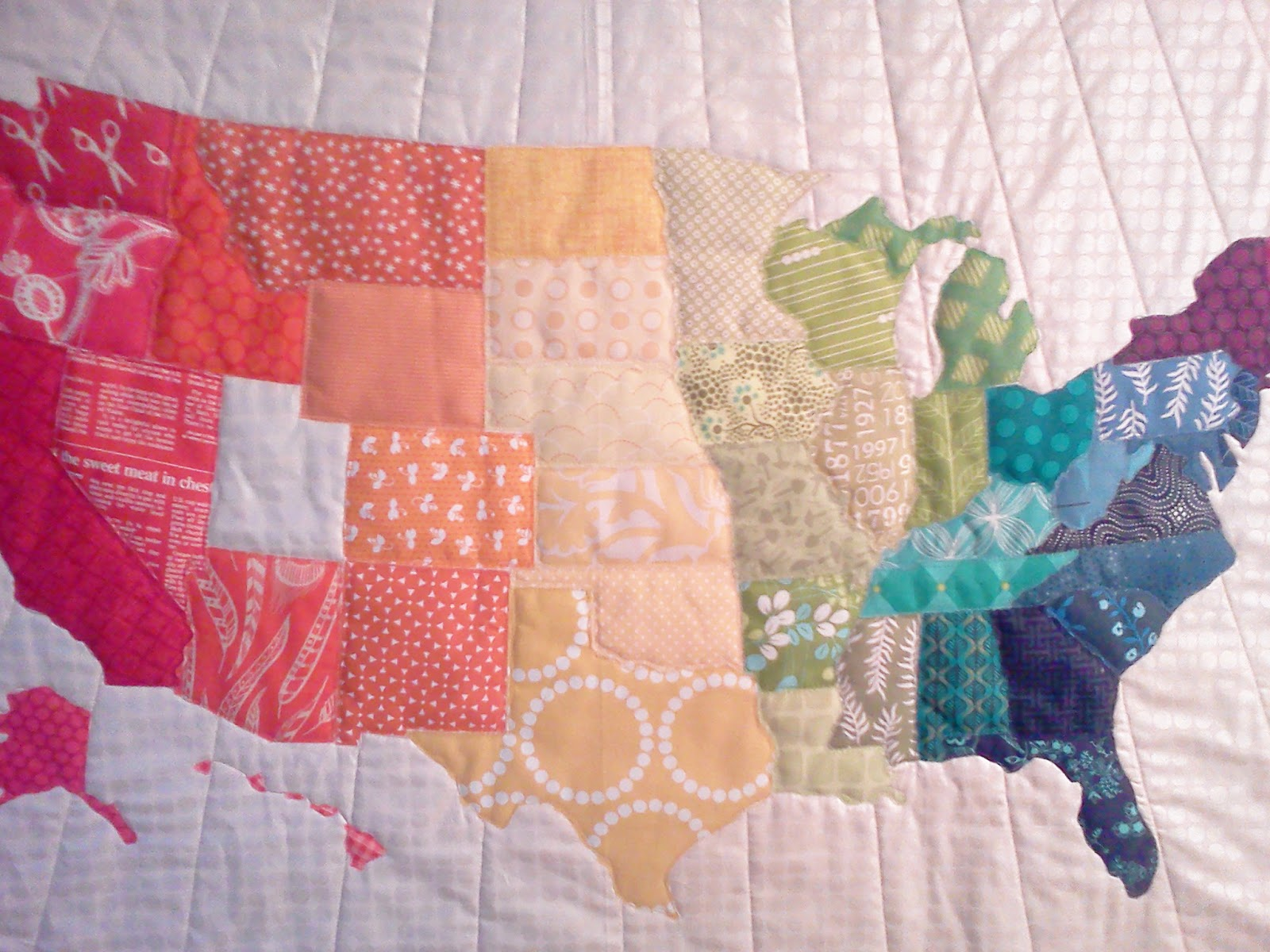 Map Of Usa Quilt Pattern ~ CVLN RP