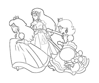 #7 Princess Peach Coloring Page