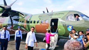 CN 295M yang Ditumpangi Jokowi Dilengkapi Night Vision Google
