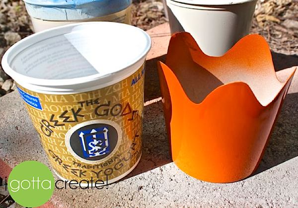 I Gotta Create!: Turn Plastic Food Containers into Pretty Planters on