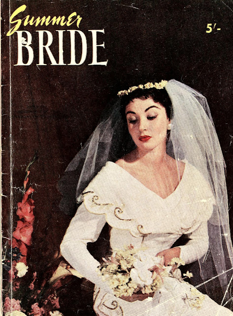 1950s summer bride magazine wedding dress